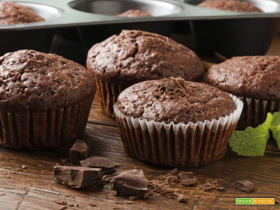 Questi muffins al cioccolato per gli intolleranti al lattosio