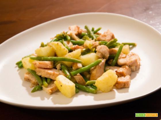 Pollo, patate e fagiolini