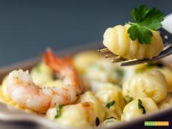 Gnocchetti al sugo di scampi, piatto unico al sapore di mare