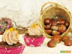 Cupcake al cocco e arancia con crema alle castagne