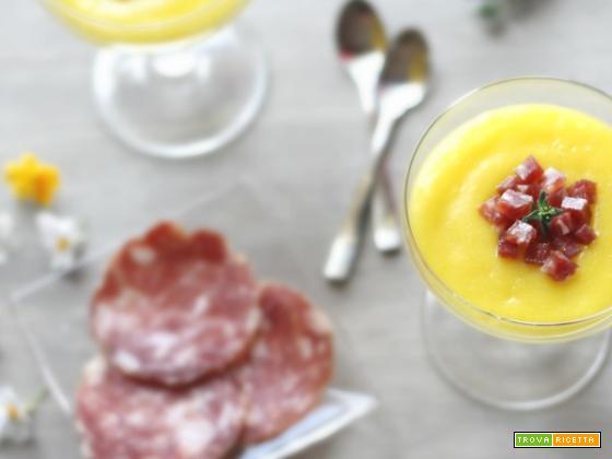 Crema di patate con dadini di Salame Campagnolo