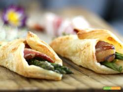 Fagottini di pasta sfoglia salati con bacon riserva speciale