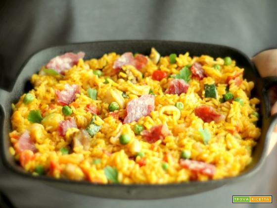 Paella: la ricetta con Salame Campagnolo