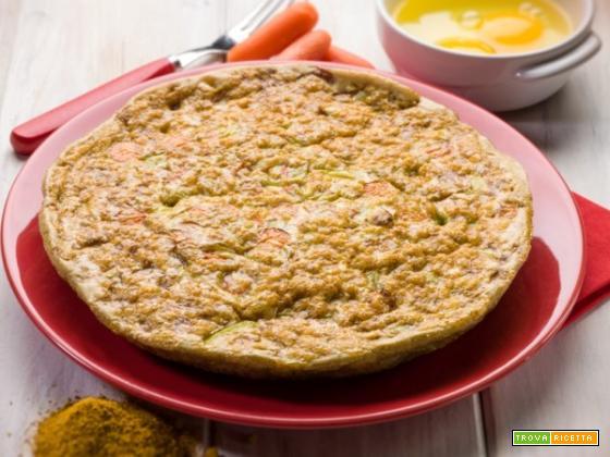 Frittata con curry e carote, un concentrato di salute sulla vostra tavola