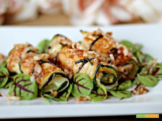 Involtini di pollo e zucchine con Pancetta Steccata Pasini