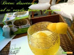 Bevanda detox al tè verde e zenzero