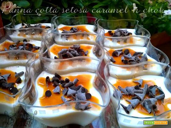 Bicchierini di Panna cotta caramel 'n chok