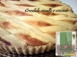 crostata ricotta e visciole | cucinare chiacchierando