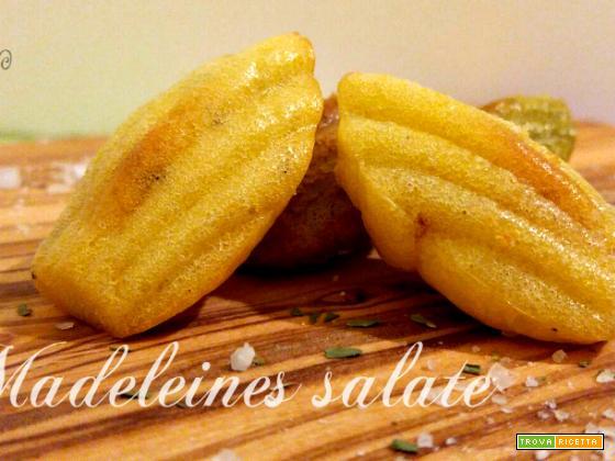 Madeleines salate con pancetta ed erbe aromatiche