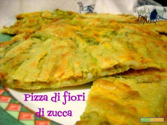 Pizza di fiori di zucca