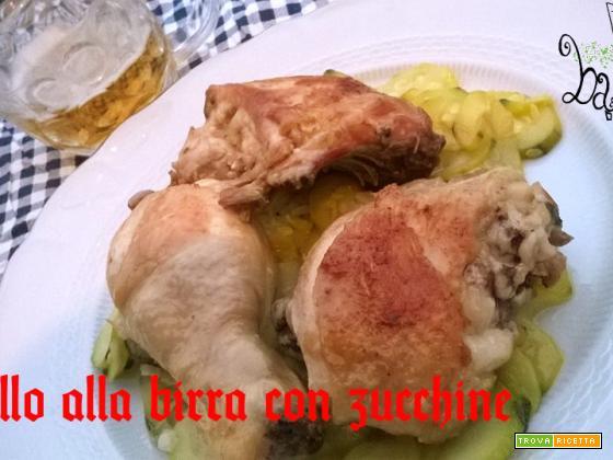 Pollo alla birra con zucchine