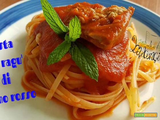 Pasta con ragù di tonno fresco, bontà della cucina siciliana!