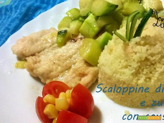 Scaloppine di pollo con zucchine e cous cous