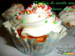 Tortine di carote con cheese cream