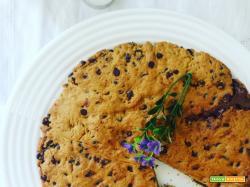 Torta cookie con crema di nocciole (ricetta senza uova).