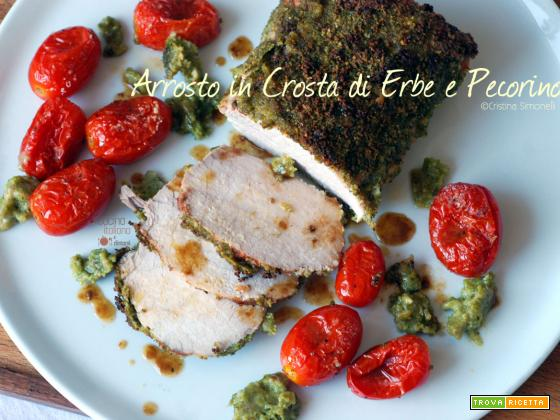Arrosto in crosta di erbe e pecorino