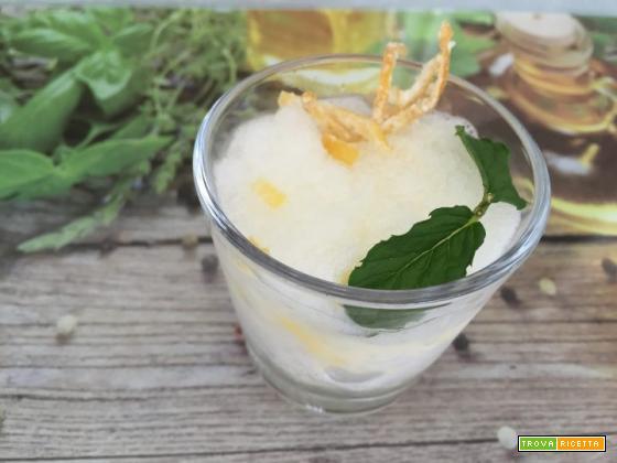 Granita di limone e menta