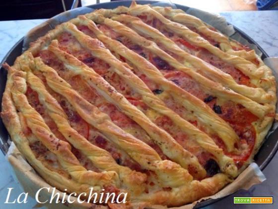 Torta salata con parmigiano e pomodoro