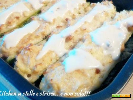Zucchine Ripiene con Tonno e Patate di Gloria KitchenUSA