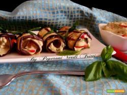 Involtini di melanzane grigliate con tonno e maionese
