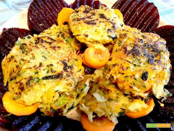 Rostì di patate zucchine e carote – golosissimi –
