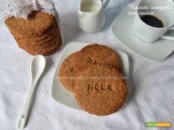 Biscotti integrali con crusca