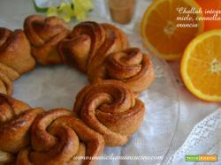 Challah integrale miele, cannella, arancia