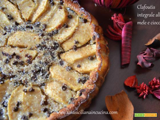 Clafoutis integrale mele e cioccolato