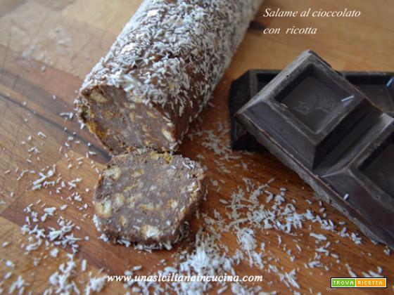 Salame al cioccolato con ricotta