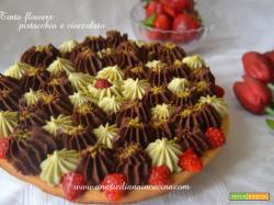 Torta flowers pistacchio e cioccolato