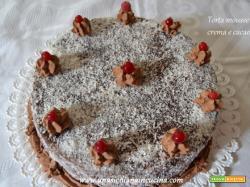 Torta mousse crema e cacao