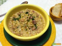 Zuppa Friulana di orzo e fagioli
