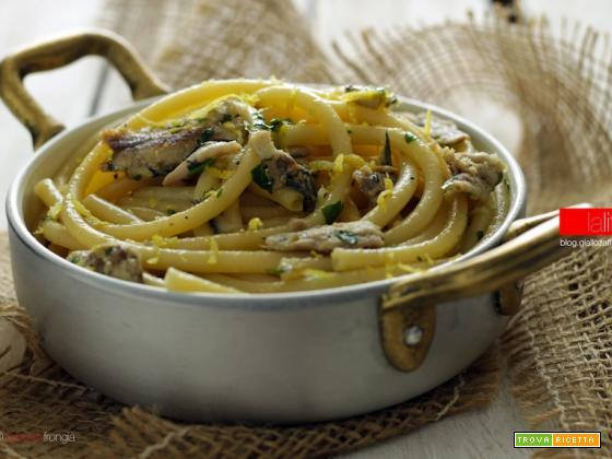 Pasta con sarde e limone, ricetta veloce