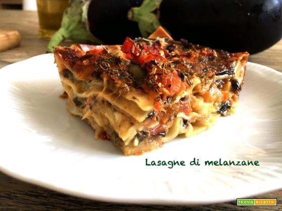 Lasagne di melanzane senza besciamella