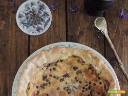 Torta con ricotta mascarpone e gocce di cioccolato