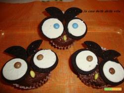 Muffin di Montersino travestiti da gufetti