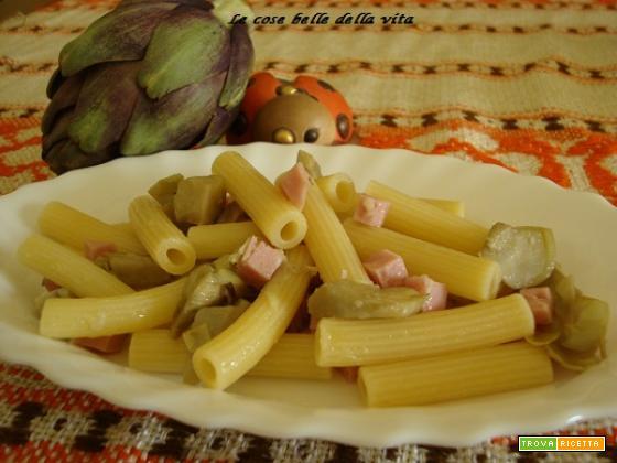 Pasta carciofi e prosciutto