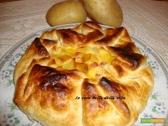 Torta salata con pancetta e patate