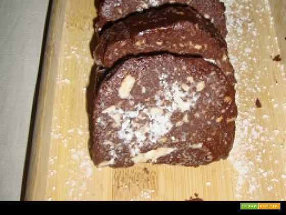 Salame di cioccolata leggero