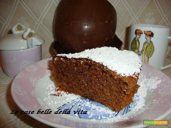 Torta al cioccolato con avanzi di uova