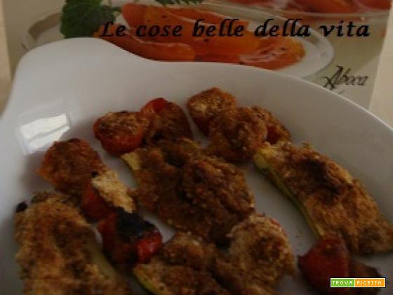 Zucchine e pomodori gratinati