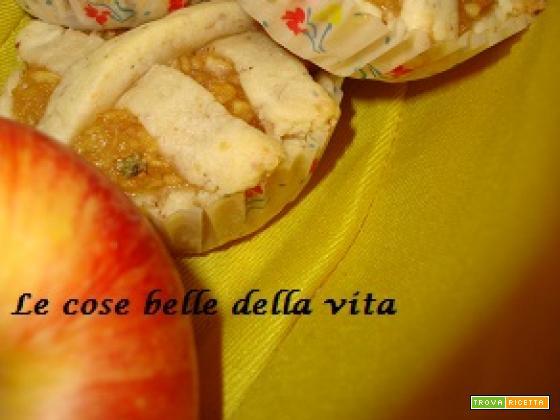 Crostatine con mousse di mele al basilico