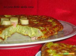 Frittata con broccoli pancetta e provola