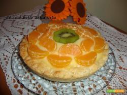 Crostata alla frutta con crema profumata al limone