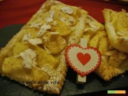 Tranci di sfoglia con crema mele e cannella, e cosa è il S. Valentino per me