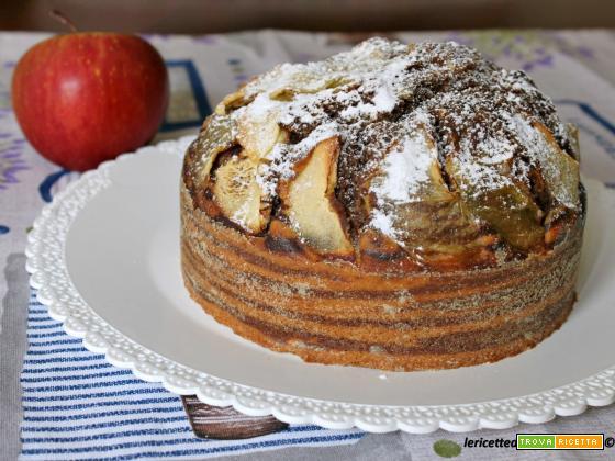 Torta variegata con mele