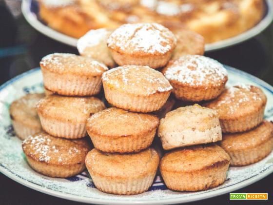 Muffin con marmellata alle pesche, gusto e profumo