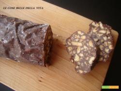 Salame al cioccolato o salame turco senza uova