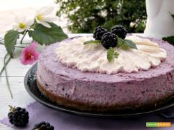 Cheesecake alle more senza cottura