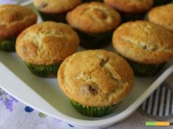 Muffin con ricotta, uvetta e profumo di limone
